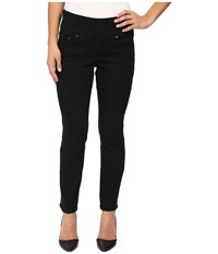Jag Jeans Petite Amelia Pull On Ankle In Comfort Denim In Black Void Black Void Women's