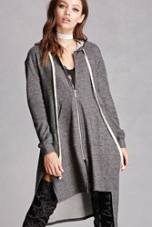 Forever 21 Oversized Zip Hoodie Charcoal