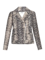Elizabeth And James Corlyn Python Effect Leather Jacket
