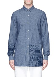 Denham Jeans X Daily Paper African Graphic Print Shirt Blue