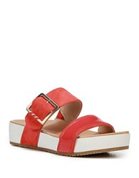 Dr. Scholl's Original Collection Frill Slides Red