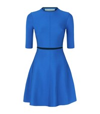 Victoria Victoria Beckham Open Back Skater Dress Female Blue