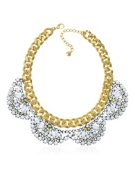 Juicy Couture Flower Cluster Collar Necklace Gold