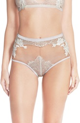 For Love Lemons 'Flower Blossom' Sheer High Waist Briefs Ivory