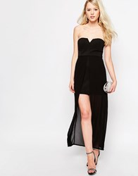 Jovonna Nico Dress With Maxi Overlay Black
