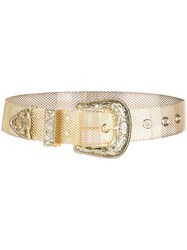 B Low The Belt Adjustable Mesh Gold