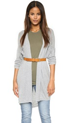 Ella Moss Penny Lane Collette Fringe Cardigan Heather Grey