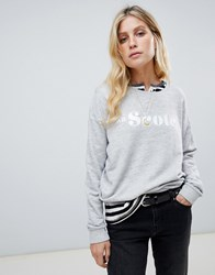 Maison Scotch Logo Sweatshirt Grey