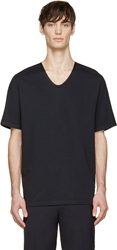 3.1 Phillip Lim Black Silk Trim T Shirt