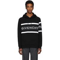 Givenchy Black Contrasting Stripes Hoodie