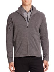 Z Zegna Techmerino Zip Front Track Jacket Grey
