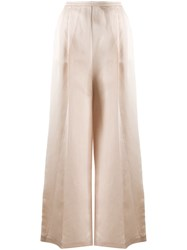 Semicouture High Rise Pleated Wide Leg Trousers 60