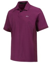 Greg Norman For Tasso Elba Men's Pattern Blocked Polo Only At Macy's Perfect Plum