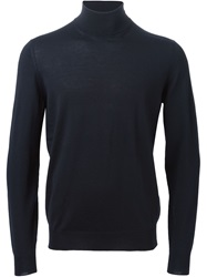 Drumohr Turtle Neck Sweater Blue