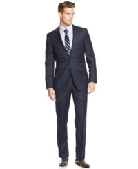 Dkny Navy Solid Extra Slim Fit Suit