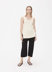 Lauren Manoogian 'S Links Tank Top In Raw White Size 1 100 Organic Cotton