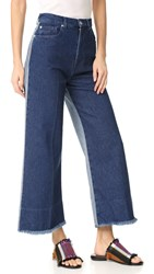 Cedric Charlier Flared Jeans Fantasy Print Blue