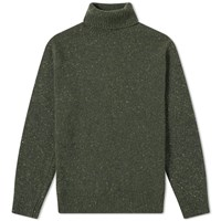 Universal Works Lambswool Fleck Roll Neck Knit Green