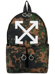 Off White Camouflge Arrow Backpack Green