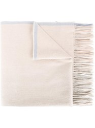 Paul Smith Ps By Fringed Scarf Nude Neutrals