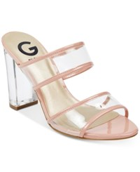 G By Guess Brayla Lucite Dress Sandals Women's Shoes Pink