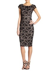 Abs By Allen Schwartz Lace Dress Black