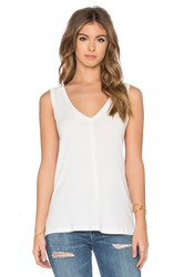 James Perse A Line Viscose Blend Tank Ivory