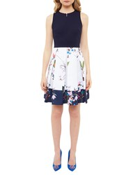 Ted Baker Tropical Oasis Bodice Dress Navy