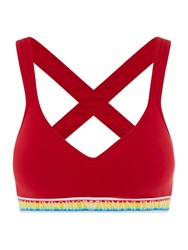 Emporio Armani Visbility Over The Rainbow Padded Bralette Red