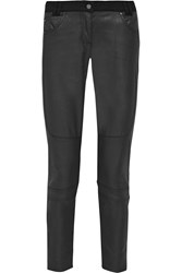 Belstaff Layton Coated Denim Skinny Pants Black
