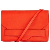 Kin By John Lewis Sophie Triangle Flap Across Body Bag Orange