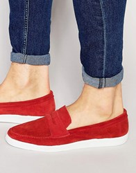 Kg By Kurt Geiger Kurt Geiger Gayle Suede Penny Loafers Red