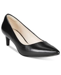 Cole Haan Amelia Grand Pointed Toe Pumps Women's Shoes Black Leather