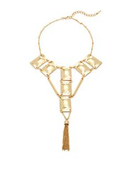 Saks Fifth Avenue Chain Tassel Necklace Gold