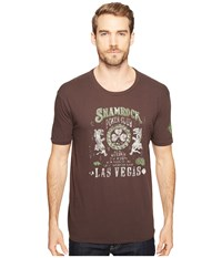 Lucky Brand Shamrock Poker Graphic Tee Black Mountain Men's Clothing