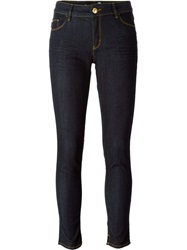 Love Moschino Cropped Skinny Jeans Blue