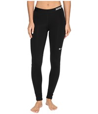Nike Pro Warm Tights Black Black Black White Women's Workout