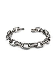 Zoppini Zo Chain Stainless Steel Oval Link Bracelet Silver