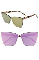 Diff Sydney Sunglasses Gold Brown Gold Brown