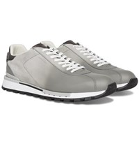 Berluti Fast Track Torino Suede And Leather Sneakers Light Gray