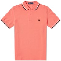 Fred Perry Authentic Twin Tipped Polo Red