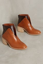 Anthropologie Jeffrey Campbell Jermaine Ankle Boots Honey