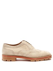 Christian Louboutin Charlie Suede Oxford Shoes Beige