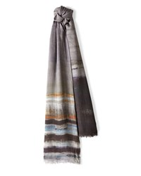 Jaeger Wool Blend Abstract Scarf