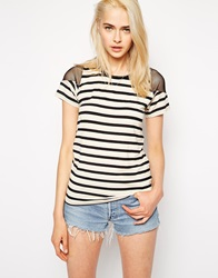 Pencey Standard Striped T Shirt With Mesh Insert