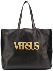 Versus Logo Tote Bag Black