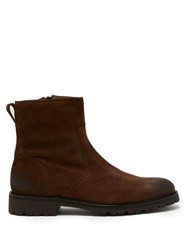 Belstaff Attwell Burnished Suede Boots Brown