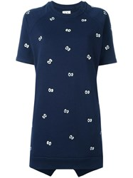 Zoe Karssen Eyes Print Dress Blue