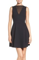 French Connection Women's 'Viola' Stretch Fit And Flare Dress
