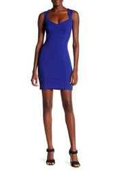 French Connection Lula Sweetheart Bodycon Dress Blue
